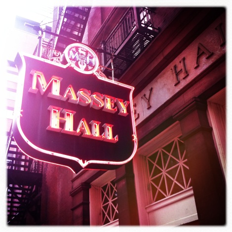 Massey Hall. I apologize to all of my photog friends for going hipstamatic-crazy in this post.